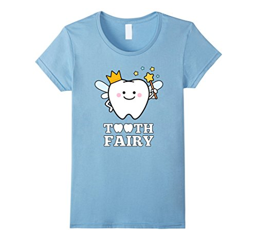 Fairy Costume Women Ideas Tooth (Womens Tooth Fairy Magic Wand T-Shirt Fun Magical Dental Gift Medium Baby)