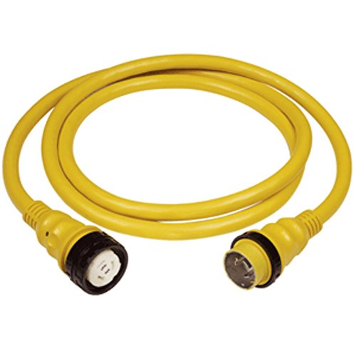 Marinco 50A 125V Shore Power Cable - 50 - Yellow Marine , Boating Equipment