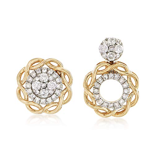 Ross-Simons 0.33 ct. t.w. Diamond Jewelry Set: Stud Earrings and Convertible Earring Jackets in 14kt Yellow Gold