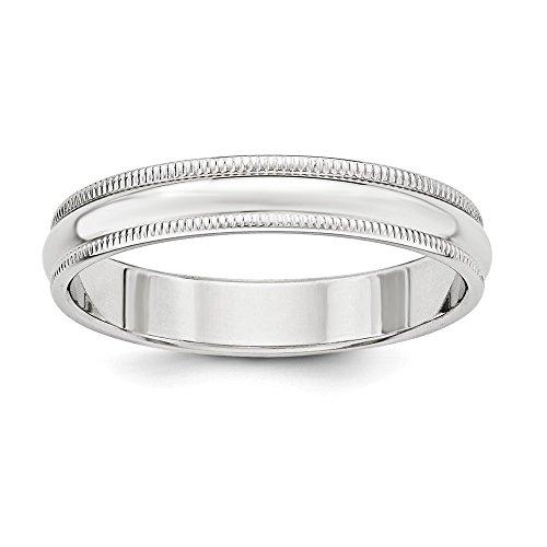 4mm Milgrain Sterling Silver Wedding Band Ring