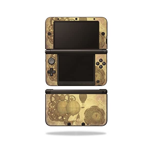 MightySkins Skin Compatible with Nintendo 3DS XL - Steam Punk Paper | Protective, Durable, and Unique Vinyl Decal wrap… 3