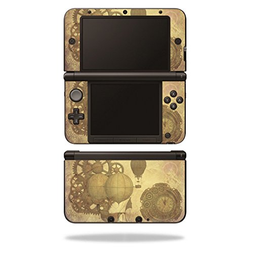 MightySkins Skin for Nintendo 3DS XL Original (2012-2014) – Steam Punk Paper | Protective, Durable, and Unique Vinyl Decal wrap Cover | Easy to Apply, Remove, and Change Styles | Made in The USA