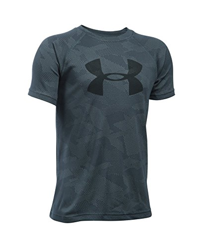 Under armour boys 39 tech big logo printed short sleeve t for Printed under armour shirts