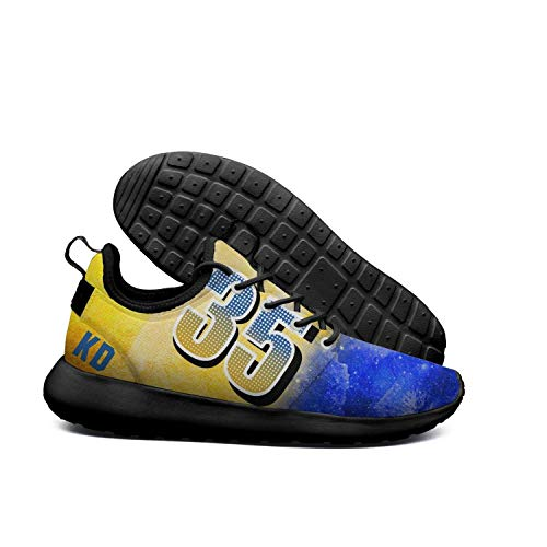 Uter ewjrt womens ladies blue and yellow 35 KD pattern light running shoes mesh outdoor sneaker