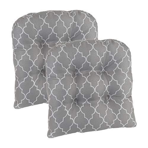 - Klear Vu Trellis Gripper Universal Non-Slip Overstuffed Geometric Dining Chair Cushion, Set of 2, 15