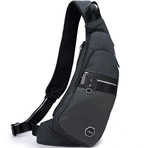 Sling Bags, Chest Shoulder Backpacks Fanny Pack Crossbody Bags Daypack for Men Women Travel Outdoors Running