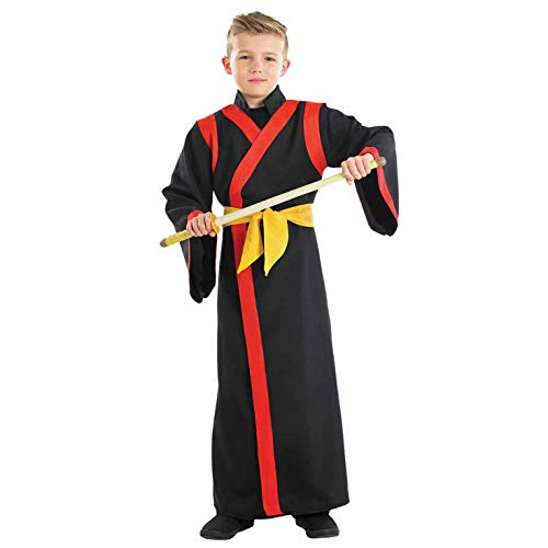 fun shack Childrens Samurai Boy Costume Boys Ninja Martial Arts Warrior Robe - Medium -