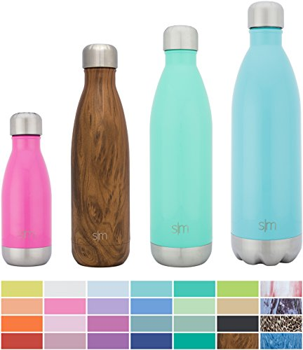 Simple Modern Stainless Steel Vacuum Insulated Double-Walled Wave Bottle, 25oz - Oasis Blue