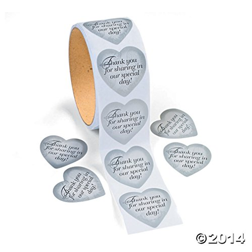 Silver Heart Stickers Fun Express
