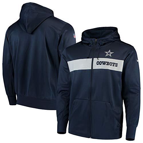 Amazon.com: Dallas Cowboys NFL Nike Sideline - Sudadera con ...
