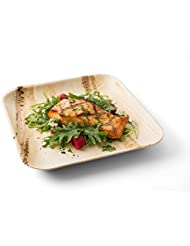 10 Inch Square Leaf Plates, 50 Plates - Leafware