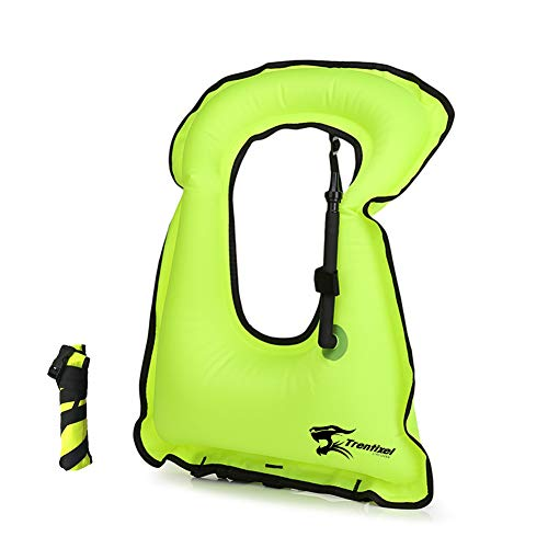 Trentixel Inflatable Snorkel Vest Men/Women Snorkeling Jackets Vests with Adjustable Straps for Diving Kayaking Swimming Surfing Safety