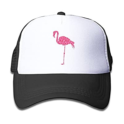 Waldeal Rose Flamingo Flamingo Art Kids Mesh Cap Trucker Hats for Girls Adjustable
