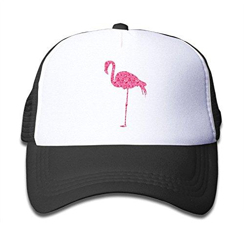 Waldeal Rose Flamingo Flamingo Art Kids Mesh Cap Trucker Hats for Girls Adjustable