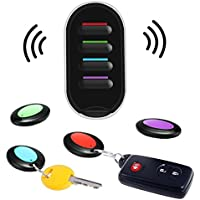 Key Finder, Wireless Key Tracker Locator Caller Beeper, Hizek Smart Key Finder with LED Flashlight and 4 Receivers, Remote Control