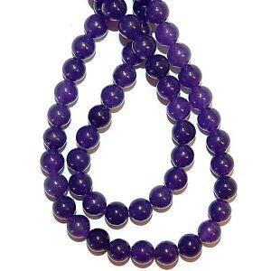 (GR752 Purple Malay Jade 6mm Round Quartz Gemstone Beads 15