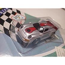 Artin (China) Silver/Red Porsche 911 GT1 Roock Racing Plastic Slot Car 96-mm NIB