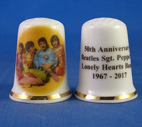 Birchcroft Porcelain China Collectable Thimble 50th Anniversary Beatles SGT Peppers