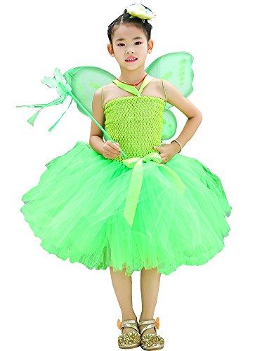 AQTOPS Girls Green Tutu Costumes for Saint Patrick's Day Large]()