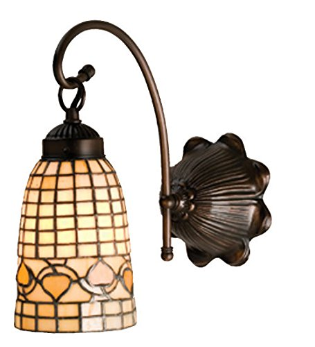 Tiffany Style Stained Glass Light Acorn Wall ()