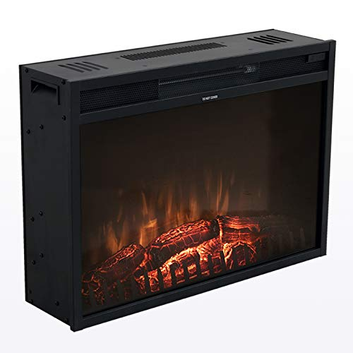 Living Essentials Moscow Electric Fireplace Insert 26 Inch Modern Electric Fireplace Heater Free Standing, Remote Control with Timer