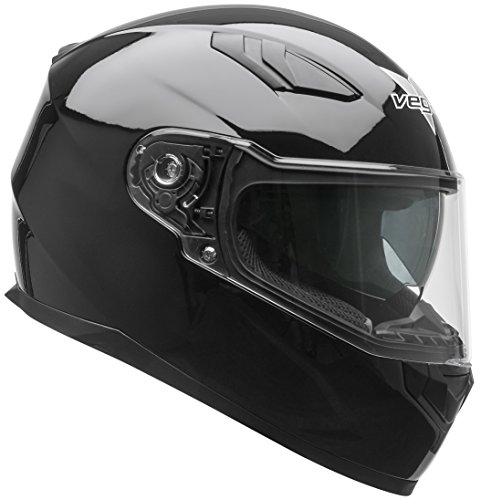 Vega Helmets RS1 Street Sunshield Motorcycle Helmet - DOT Certified Full Face Motorbike Helmet for Cruisers Sports Street Bike Scooter Touring Moped, Bluetooth Comp (Black, Small) (Vega Waterproof Motorcycle)