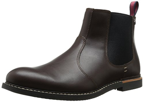 Timberland Men's EK Brook Park Chelsea Boot,Red/Brown Smooth,12 M US