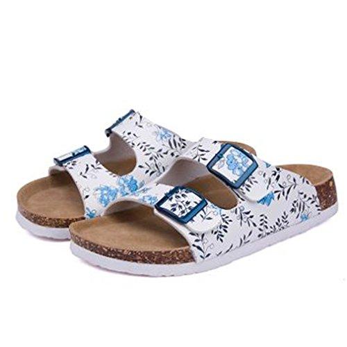 Summer Beach Cork Pantoufles Casual Double Boucle Sabots Glissières Femmes Slip Sur Flip Flop Chaussure Plus La Taille 06 i8B1MNIWJ