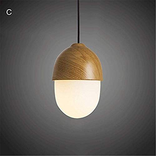Fashion Decorative Hanging Light,Pendant Light Faux Wooden Metal Top Kitchen Dining Room Barn Drawing Room Adjustable Chandelier, ChuanHan