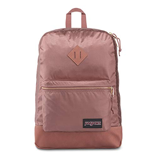 JanSport Super FX Backpack – Trendy School Pack With A Unique Textured Surface | Mocha Gold Premium Poly