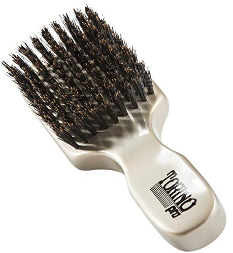Torino Pro Club Brush #880 (FIRM SOFT) by Brush King - Mens Travel Size Hair Brush, Club Style - 100% Pure Boar Bristles - Great for Beards, Thinning Hair, Fine Hair, Sensitive Scalps and Babies