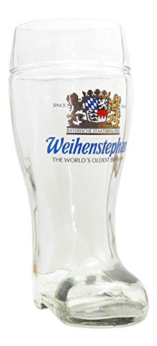 - Weihenstephaner German Beer Boot Glass, 1 Liter