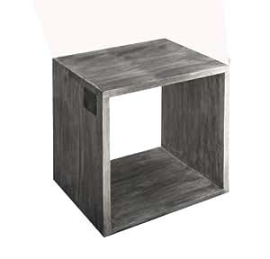 Java Exclusiv 68319 Strandgut07 dados Regal Cube reciclado teca aprox 60 x 50 cm acabado en color gris