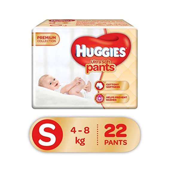 Huggies Ultra Soft Pants, Small Size Premium Diapers, 22 Counts