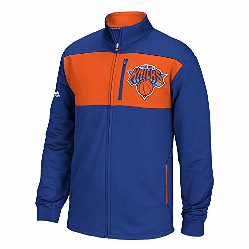 Adidas Nba Track Jacket - adidas New York Knicks NBA Blue Tip-Off Full Zip Team Logo Track Jacket for Men (S)