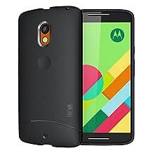 Moto X Play Case, TUDIA Ultra Slim Full-Matte ARCH TPU Bumper Protective Case for Motorola Moto X Play (Black)