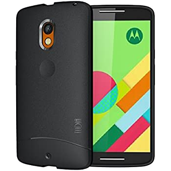 Moto X Play Case, TUDIA Full-Matte ARCH TPU Bumper Protective Case for Motorola Moto X Play (Black)