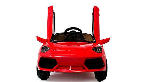 Coche eléctrico niños 12v estilo Lamborghini con mando - Potente batería 12v - Nº1 Ventas en Amazon - Rojo: Amazon.es: Juguetes y juegos