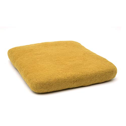Glaciart One Felting Mat XXL (11.5 x 11.5 x 1.5 Inch) - 100% Premium New Zealand - Block Wool Felt