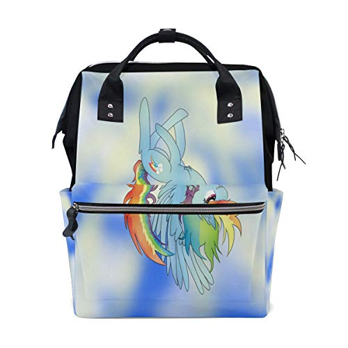 Diaper Bags Rainbow Cute Animal Fashion Mummy Backpack Multi Functions Large Capacity Nappy Bag Nursing Bag for Baby Care for Traveling