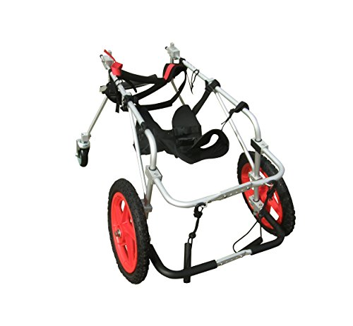 Quad 4 Four Wheel Full Support Pet Dog Wheelchair Cart Best Friend Mobility (L)