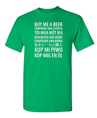 Feelin Good Tees Buy Me A Beer Party College Drinking Mens Funny Drinking T Shirt L Irish