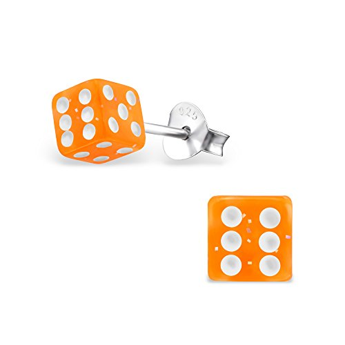 Hypoallergenic Dice Stud Earrings for Girls (Nickel Free and Safe for Sensitive Ears) Dice Jewelry