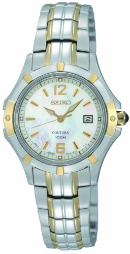 Seiko Women's SXDC92 Quartz Stainless Steel Mother-Of-Pearl Dial (Coutura Mother Of Pearl Dial)