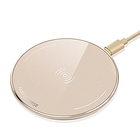 Fast Qi Wireless Charging Pad - Luxsure Wireless Charger Metal Case for Samsung Galaxy S8 / S8 plus / S7 / S7 Edge / S6 / S6 Edge / S6 Edge Plus / Galaxy Note 5, Nexus 4/5/6/7 (Nokia Lumia 1520 Belkin Case)