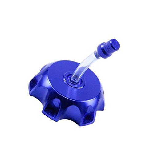 WPHMOTO CNC Aluminum Gas Fuel Tank Cap with Breather Valve For 50cc 70cc 90cc 110cc 125cc 140cc 150cc 160cc Pit Dirt Bike Motorized Bicycle (Blue)