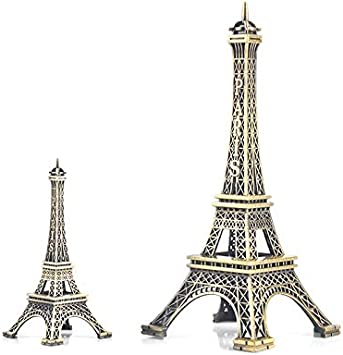 4 Colors Paris Eiffel Tower Figurine Statue Vintage Alloy Model Decor Ornament