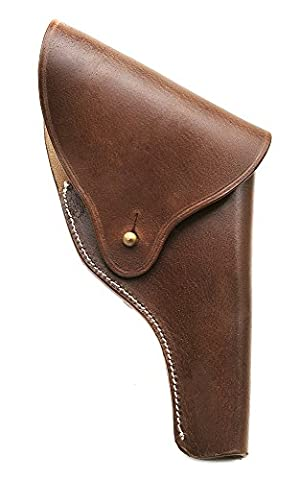 US Smith & Wesson Victory Model Revolver Holster Full Flap in Brown Leather .38 Special Model 10