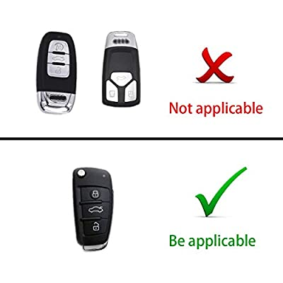 Heart Horse Fit to Audi Key Cover, Car Key Cover for Audi A1 A3 A4 A6 Q3 Q5 Q7 S3 R8 TT Remote Protector Case TPU Silicone (Silver): Automotive