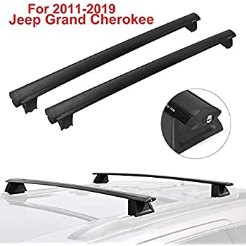 2011-2018 Jeep Grand Cherokee Black Front /& Rear Roof Top Rack Cross Bar